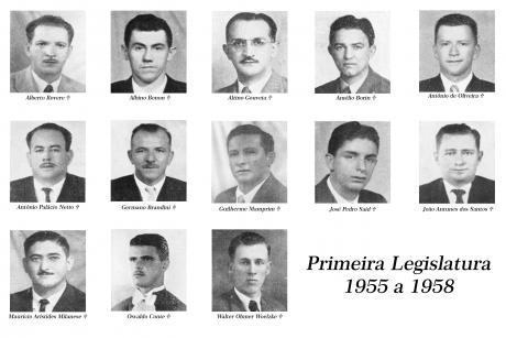 1ª Legislatura - 1955 - 1958 e Mesa Diretora.