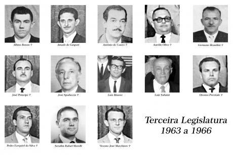 3ª Legislatura - 1963 a 1966 e Mesa Diretora