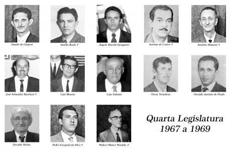 4ª Legislatura - 1967 a 1969 e Mesa Diretora