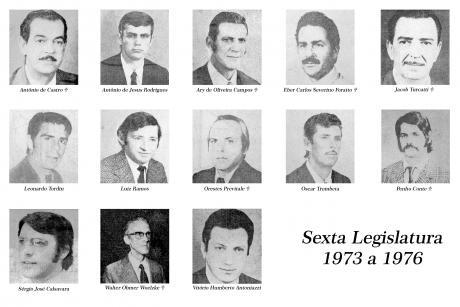 6ª Legislatura - 1973 a 1976  e Mesa Diretora