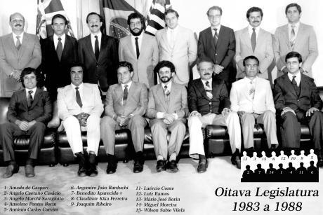 8ª Legislatura - 1983 a 1988 e Mesa Diretora