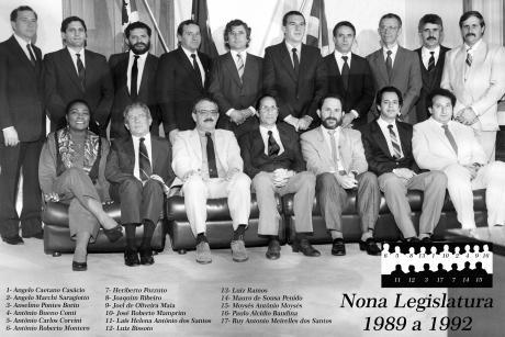 9ª Legislatura - 1989 a 1992 e Mesa Diretora